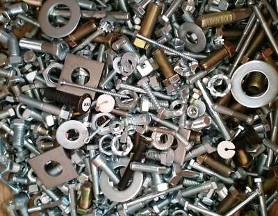 10 lbs Assorted Screws Nuts Pins Bolts Washers Plugs and More