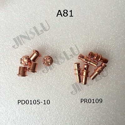 A81 Electrode PR0109 Tip PD0105-10 5pcs Each After Market Plasma Torch