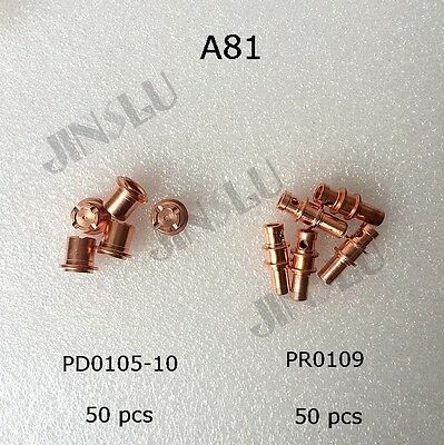 A81 Electrode PR0109 Tip PD0105-10 50pcs Each After Market Plasma Torch
