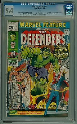Marvel Feature #1 1971 CGC 9.4 NM White Pages - First Appearance The Defenders!