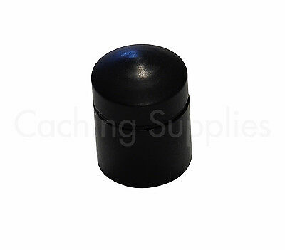 Black, Magnetic Nano Cache Geocache With Log For Geocaching 2 Pack