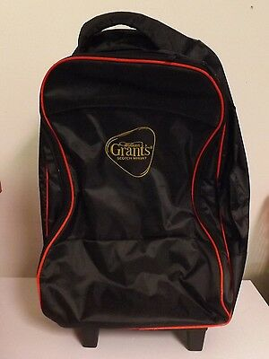 Grant's Scotch Whiskey Carry-On Bag on Wheels - Appears Unused Quality Piece