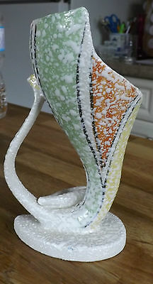 Japanese Pottery Vase. Great Colour Mid Century Modern Shape