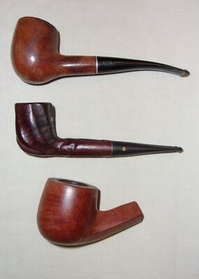 Lot of 2 Vintage Tobacco Smoking Pipes and A Pipe Bowl - Medico VFQ - Kay Woodie