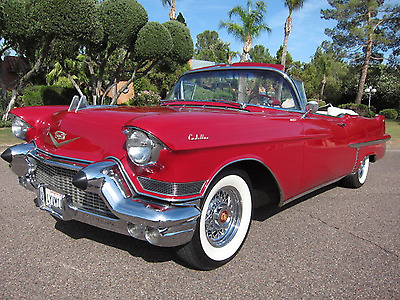1957 Cadillac Other  1957 cadillac convertible rare dual quads wire wheels red over white Look