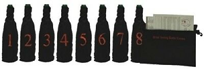Professional Model Blind Wine Tasting Kit with Pouch, 8 Numbers. Franmara