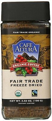 Cafe Altura Freeze Dried Instant Organic Coffee, 100ml (Pack of 2). Huge Saving