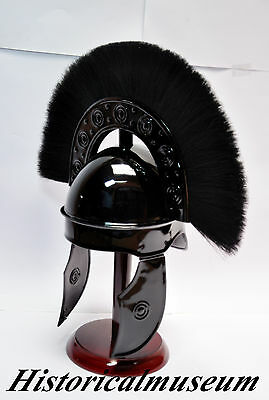 Replica Of Beautiful Hbo Rome Medival Helmet Black Finish Sca  Crusader Helmet