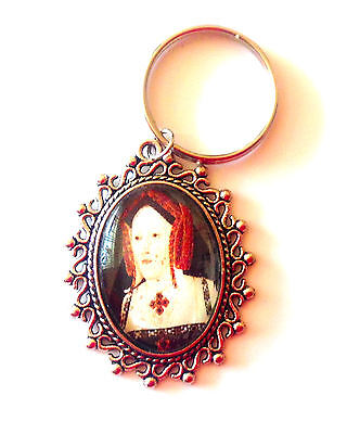 Queen Catherine of Aragon Silver Keyring