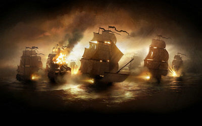 Artwork Pirates Ship Boat Oil Painting Printed On Canvas Home Art Wall Decor P41