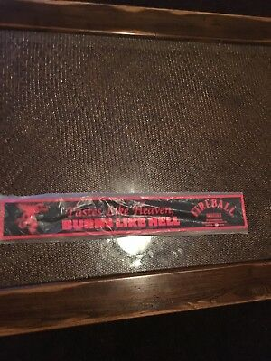 Fireball Whiskey Rubber Bar Rail Runner Mat - 2 Feet Long (new in plastic)