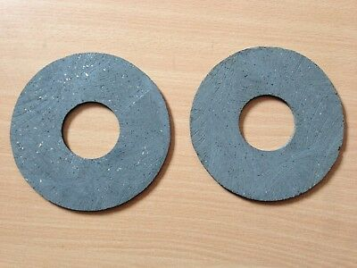 2 TRACTOR  PTO CLUTCH DISCS 127mm OD x 45mm ID