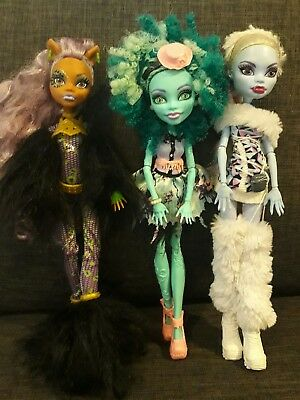 monster high 3 x dolls