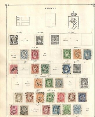 Norway Early Stamp Collection  Mostly Used  High CV