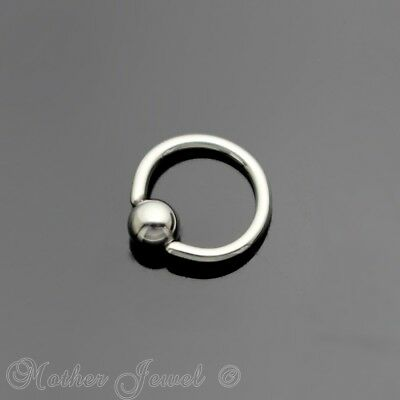 18G 6Mm Silver 316L Surgical Steel Cbr Bcr Ear Nose Septum Helix Captive Ring