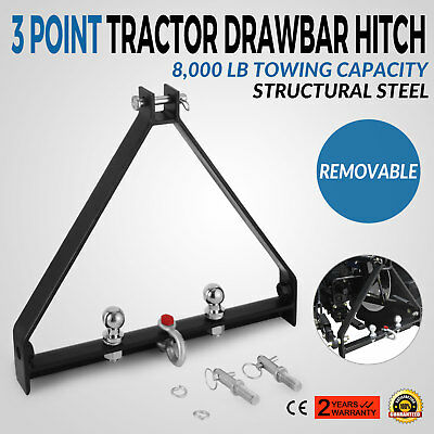 3 Point BX Trailer Hitch Compact Tractor Universal 8000lbs Capacity Handy Hitch