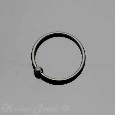 20G 10Mm Black Pvd Surgical Steel Cbr Ear Nose Septum Helix Rook Captive Ring