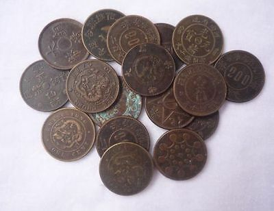 Collect Chinese bronze 15pc Coin China Old Dynasty Antique Currency Cash