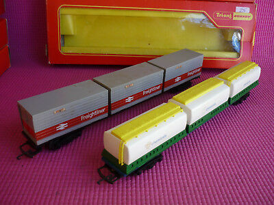 TRI-ANG HORNBY RAILWAYS OO R633 and R635 FreightLiner Wagons Hornby Triang Rovex