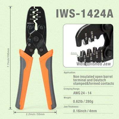 IWISS Wire Harness Plug Crimping Tool for Molex,Delphi 14-24 AWG