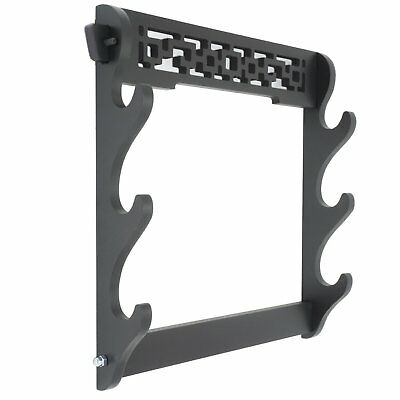 Sword Holder Wall Mount Hollow Samurai Sword Display Stand Hanger 3 Layer