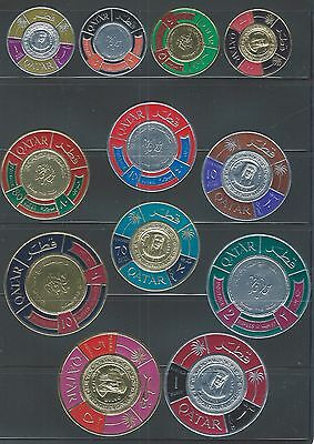 Middle East Qatar mnh gold and silver stamp coin set of 12