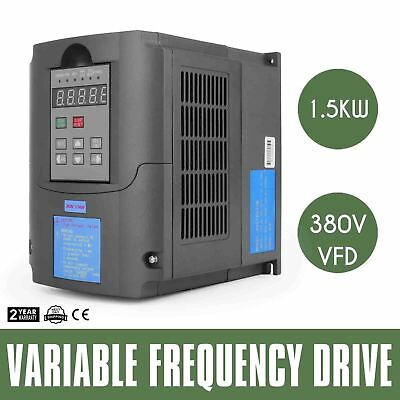 2 HP (1.5 kW) single to 3 phase inverter VSD VFD Freq upto 400Hz Motor speed