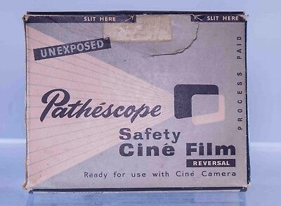 Pathescope cine film box and container