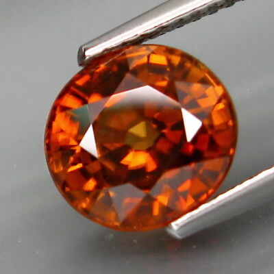 3.68Ct.Very Good Color&Full Sparkling! Natural Imperial Zircon Tanzania