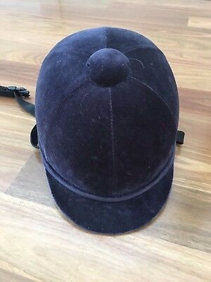 Charles & Owen navy riding hat 6 3/4 55 hardly used.  British Made. PAS015.