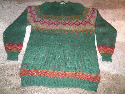 vintage crew neck Nicole Earth mohair jumper.....size Large...new never worn
