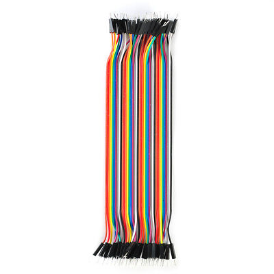 20cm Long M/M Solderless Flexible Breadboard Jumper Cable Wire 40 Pcs