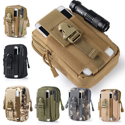 Tactical Molle Pouch Belt Waist Pack Bag Military Waist Fanny Pack Phone Pocket
