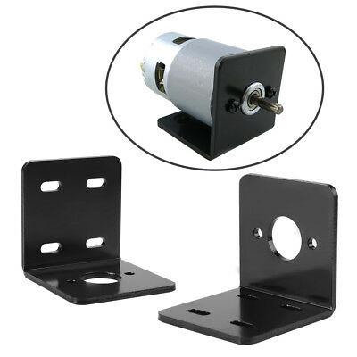 Black High Hardness Right Angle Bracket Support Fixed Base for NO. 775 Motor im