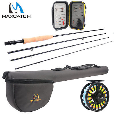 Black Star Fly Rod Outfit 5WT 6WT 9ft 5/6WT Fishing Fly Reel Fly Line Pre-Loaded