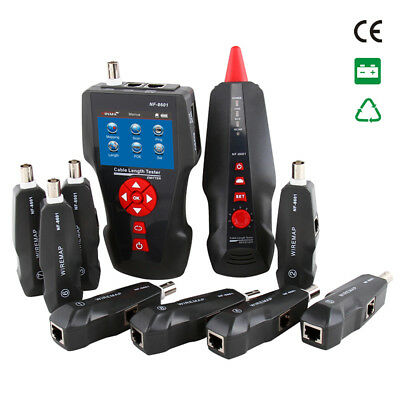 RJ45 Network LAN Length Cable Tester Meter Telephone Wire Track Test Tool BI799