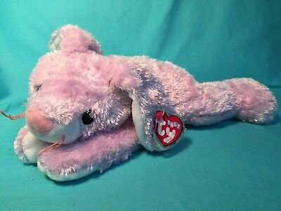 NEW Ty Pillow Pals Bunny Soft Plush - HuggyBunny- Rattles