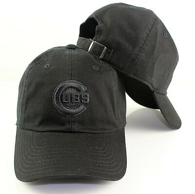 (Black) - Chicago Cubs American Needle MLB Tonal Ballpark Cotton Twill