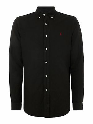 Men's Black Ralph Lauren Polo Long Sleeve Slim Fit Poplin Shirt Bnwt