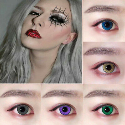 Coloured Contact Lenses Crazy Halloween Coloured Cosmetic Makeup Cosplay lens 2F