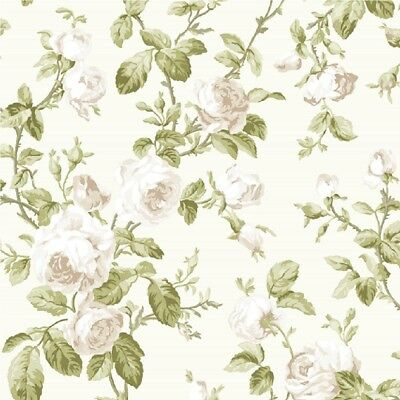 Flower Floral Trail Heritage Wallpaper Luxury Weight Leaves Roses Fine Decor