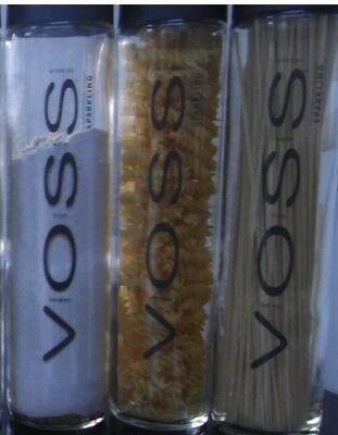 1x Voss Glass Bottle 800ml Empty Great For Using As Water Bottle Or Food Storage