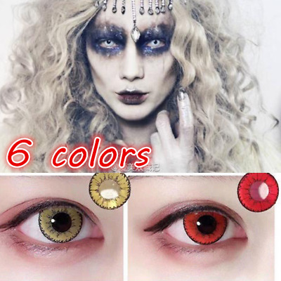 Coloured Contact Lenses Crazy Halloween Coloured Cosmetic Makeup Cosplay lens F4