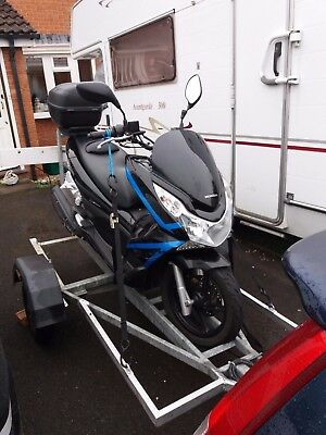 Single Motorcycle Trailer - Galvanised box section not angle iron