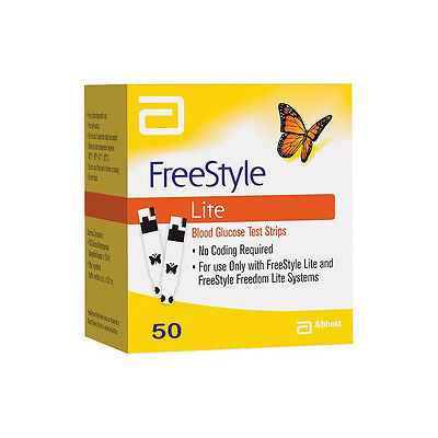 FreeStyle Lite Test Strips. 1x 50 TESTS - BRAND NEW&SEALED EXP OCT 2018 FREE P&P