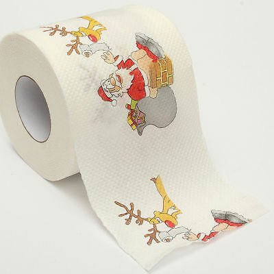 Santa Claus Christmas Deer Toilet Roll Paper Tissue Table Room Home Party Décor