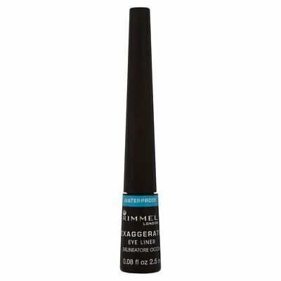 Rimmel Exaggerate Waterproof Liquid Eye Liner Black Brand New Free Delivery
