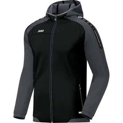Jako Kapuzenjacke Champ Kinder schwarz/anthrazit Fitness Jogging Trainingsjacke