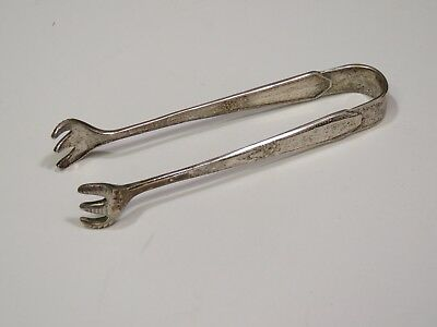 "Northumbria Laurier Sterling Silver Serving Claw Sugar Tongs 3.75"" 24 Grams"