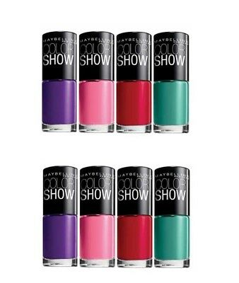 Maybelline Color Show Nail Polish Wholesale Joblot (Pack Of 12 Assorted Colours)